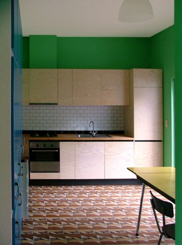 Colourful Colour Block Kitchen Bauhaus Coloring Graphic Kitchen