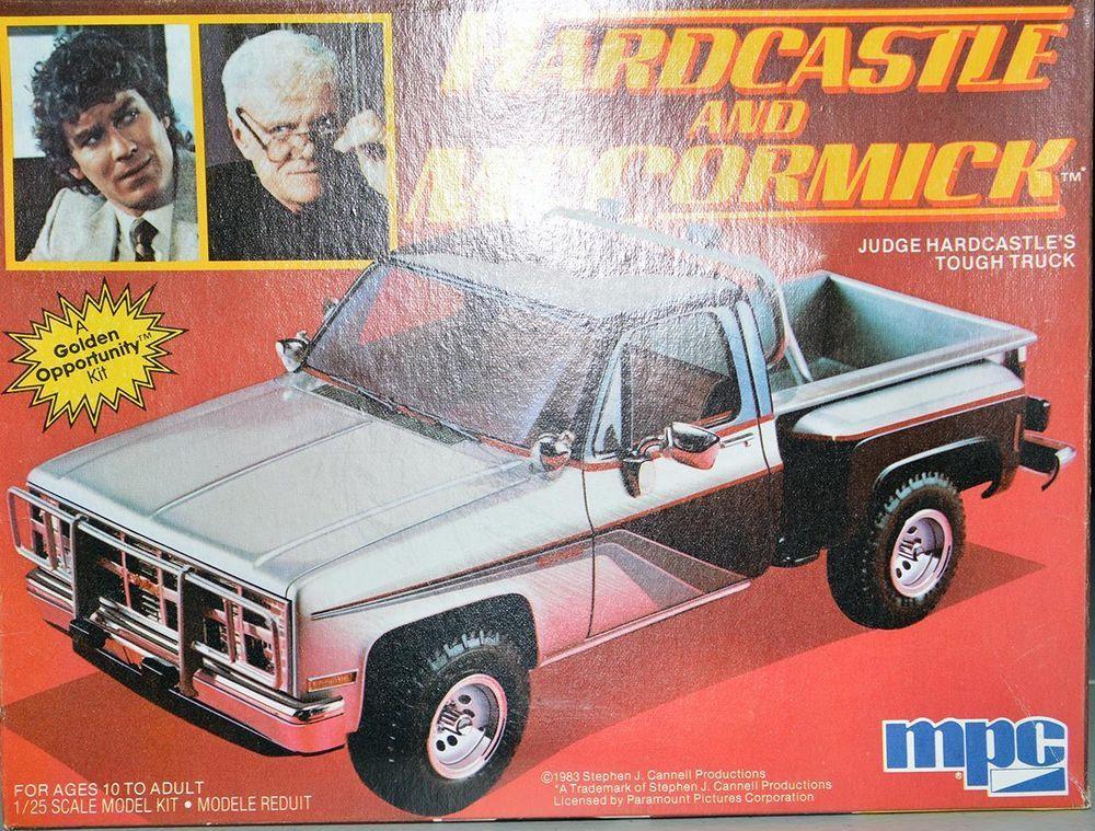 MPC 1:25 Model Car Kit Hardcastle and McCormick Judge Tough Truck #0450 Unbuilt #MPC