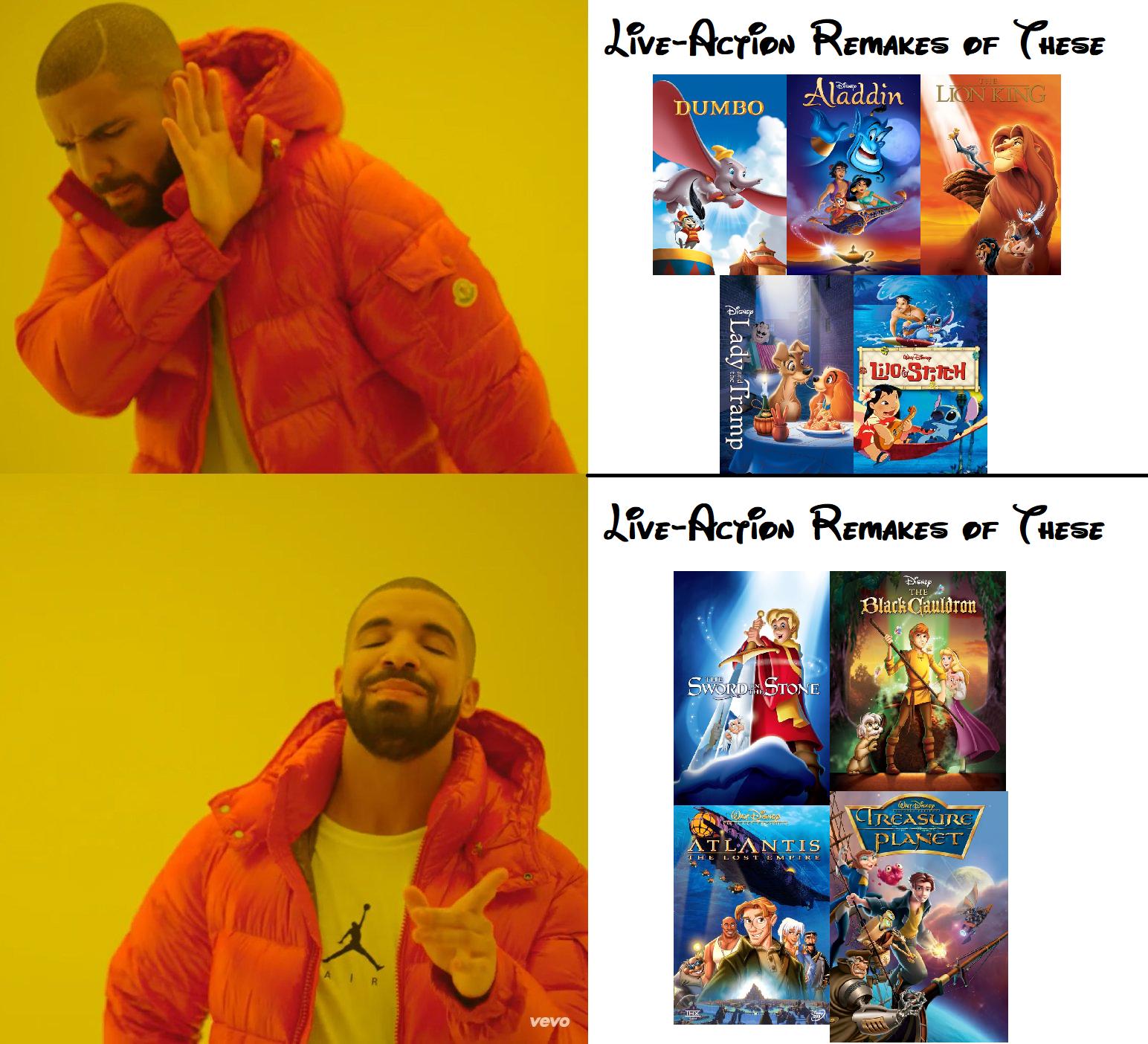 The Right Movies To Remake Disney Pixar Disney Memes Disney Funny