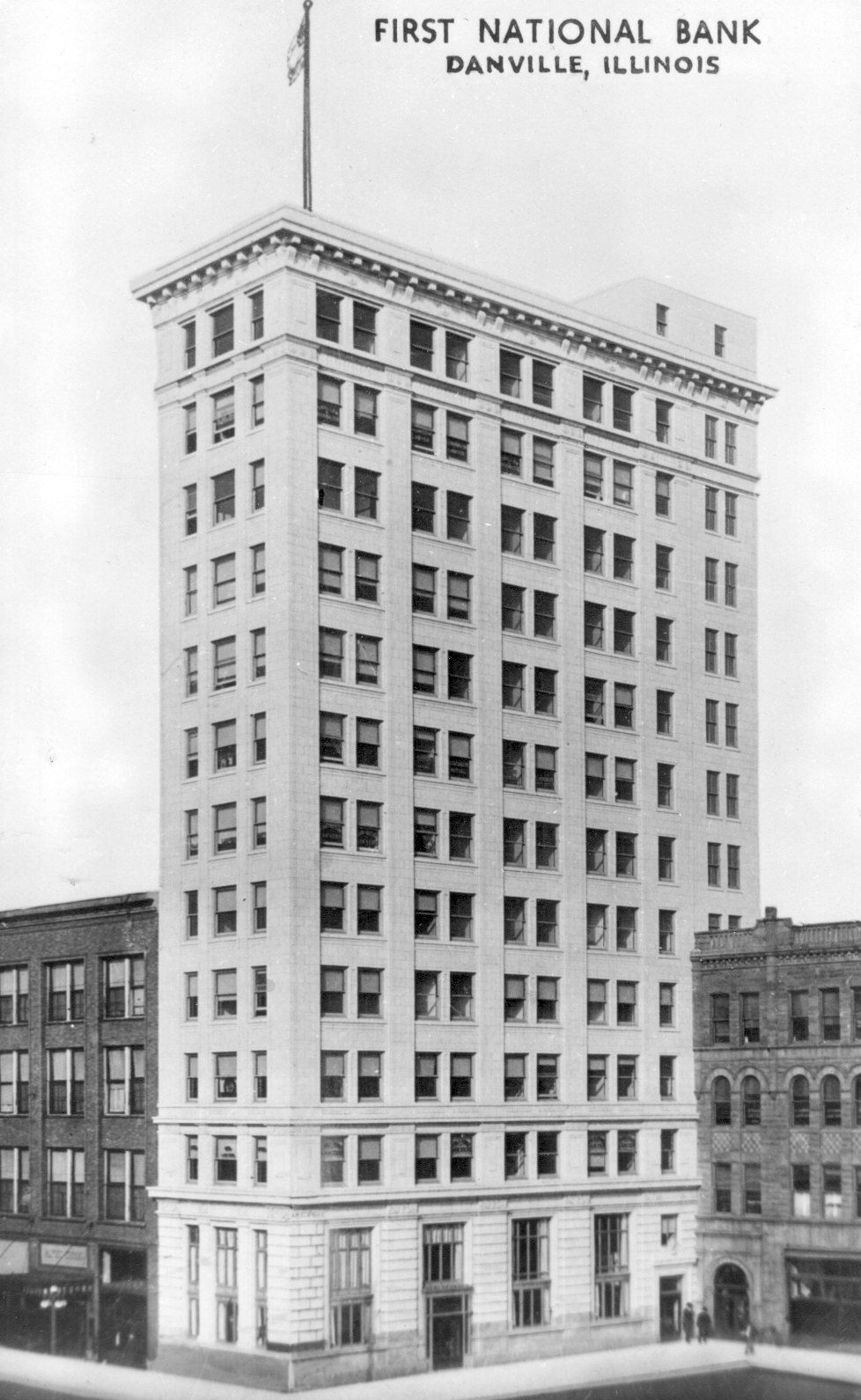 First National Bank Danville Illinois Later Know As Breese Tower