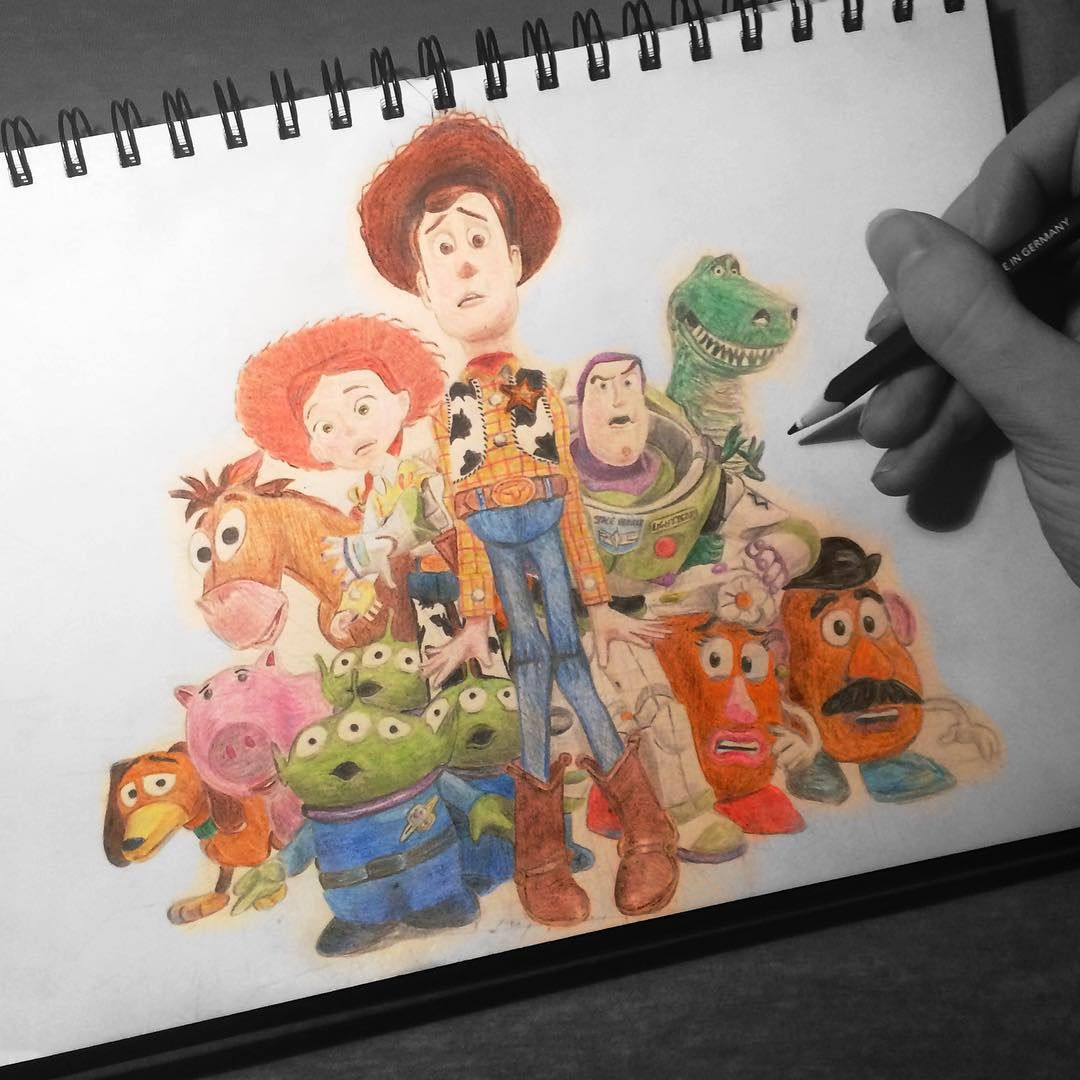 Sdjcoxy Stories That Matter On Instagram Disney Through The Ages Day 250 Did You Know Toy Story 3 Was Disney Drawings Cute Disney Drawings Disney Doodles