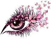 Olhos floridos