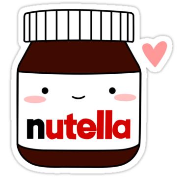 Cute Nutella Jar Sticker By Cafebunny Nutella Jar Tumblr Stickers Jar Stickers