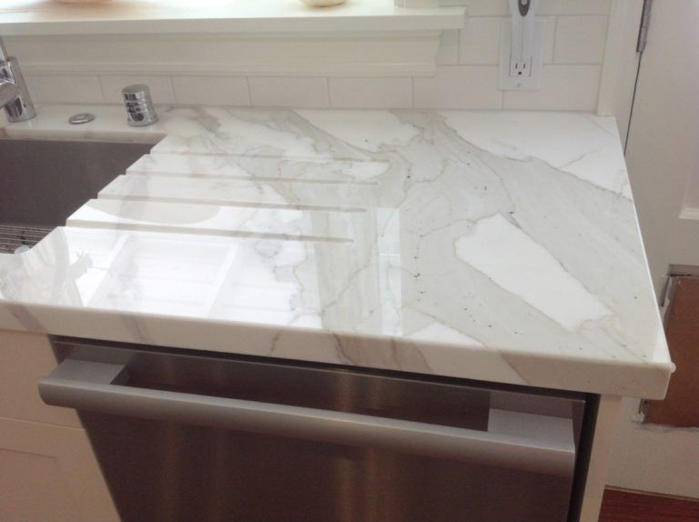 Calacatta Marble Drainboard Kitchen Sink Inspiration Countertops Granite Countertops Colors