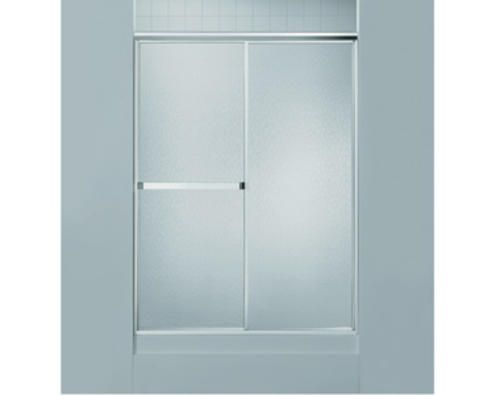 Sterling Standard 48 X 65 Sliding Shower Door In Soft Silver