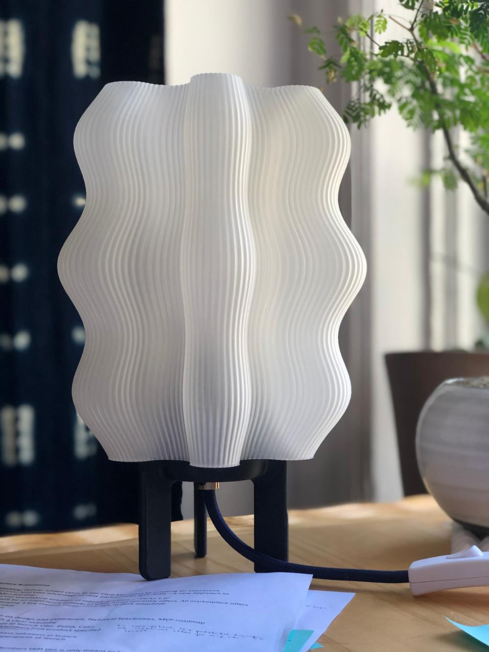 Wavy Lamp Wooj In 2020 Lamp Wavy 3d Printing