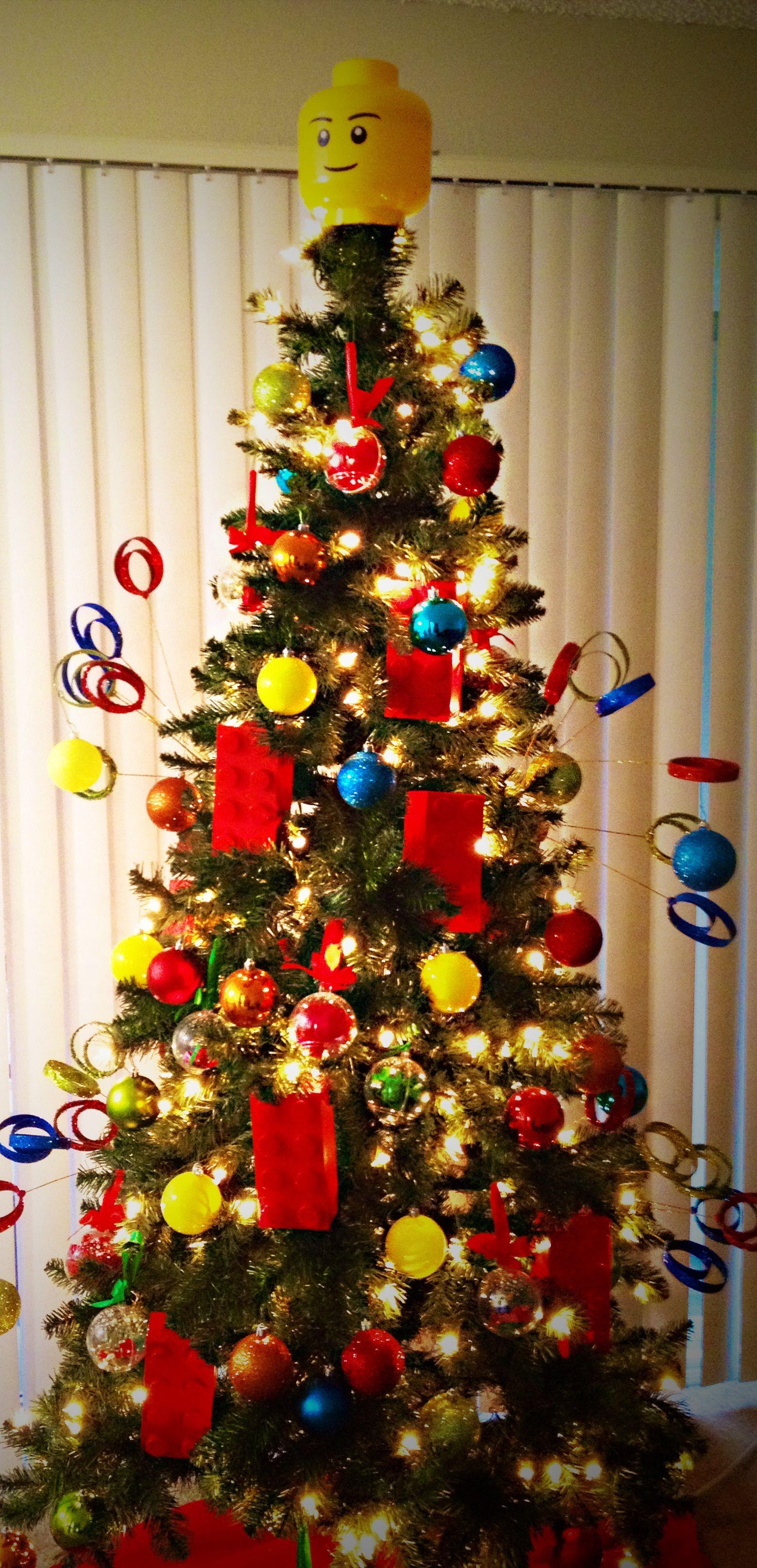 Lego christmas tree christmas decorations pinterest
