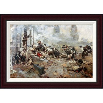 Global Gallery Attack Upon The Chew House by Howard Pyle Framed Painting Print