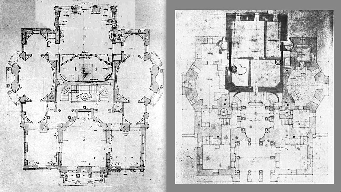 Linderhof L 1st Floor R Ground Floor Castle Floor Plan Castle Plans Architectural Floor Plans