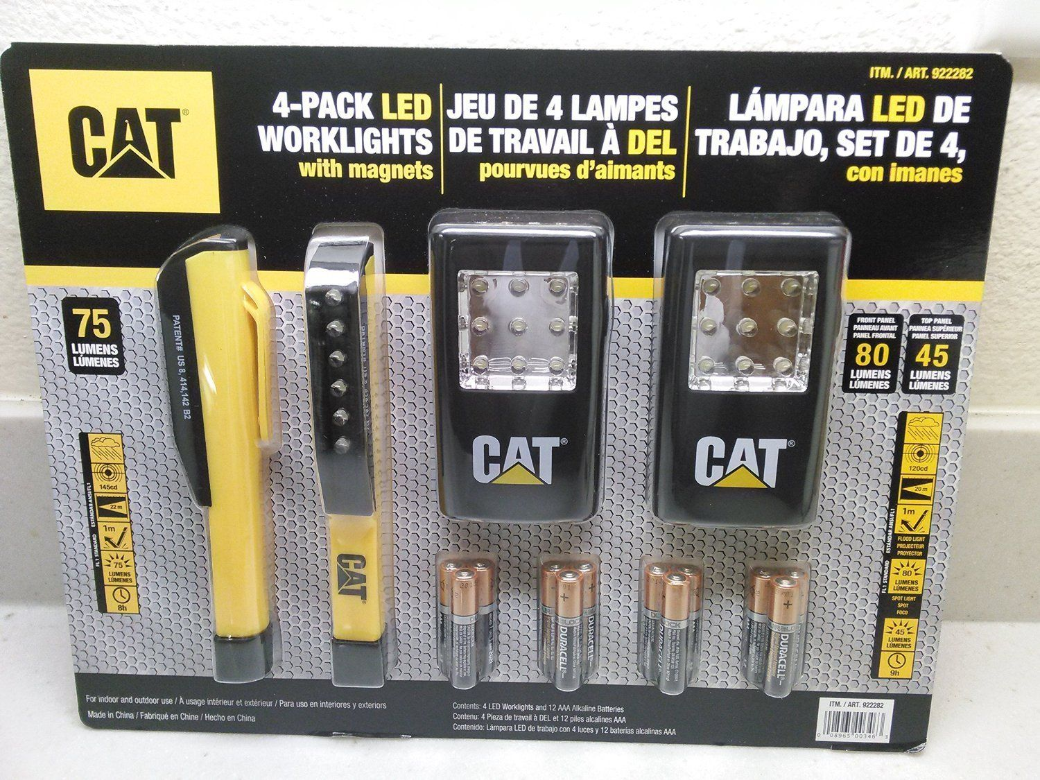 Cat 4 Pack Led Worklights With Magnets And Includes 12 Duracell Aaa Alkaline Batteries For More Information Visit Now Campi Duracell Alkaline Battery Led