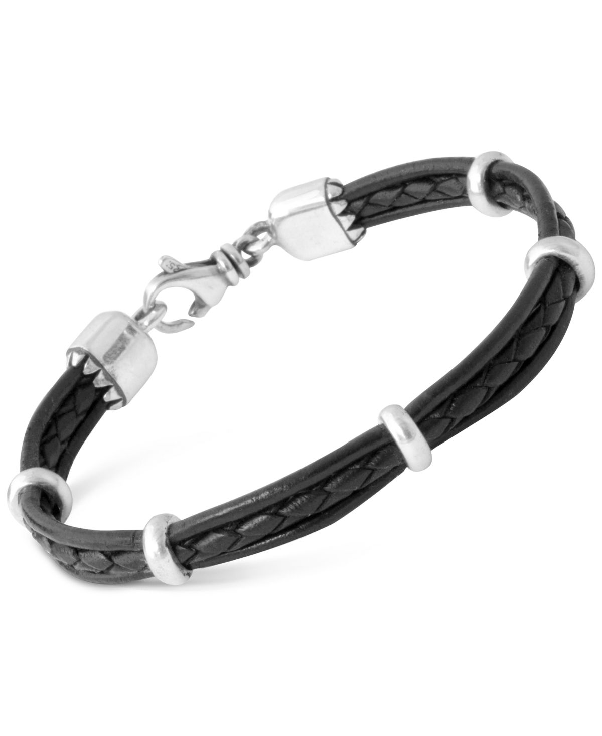 Multi Strand Leather Band Bracelet
