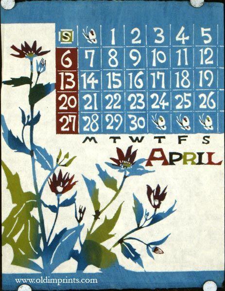Japanese Calendar For 1969 1969 Calendar Woodblock Prints