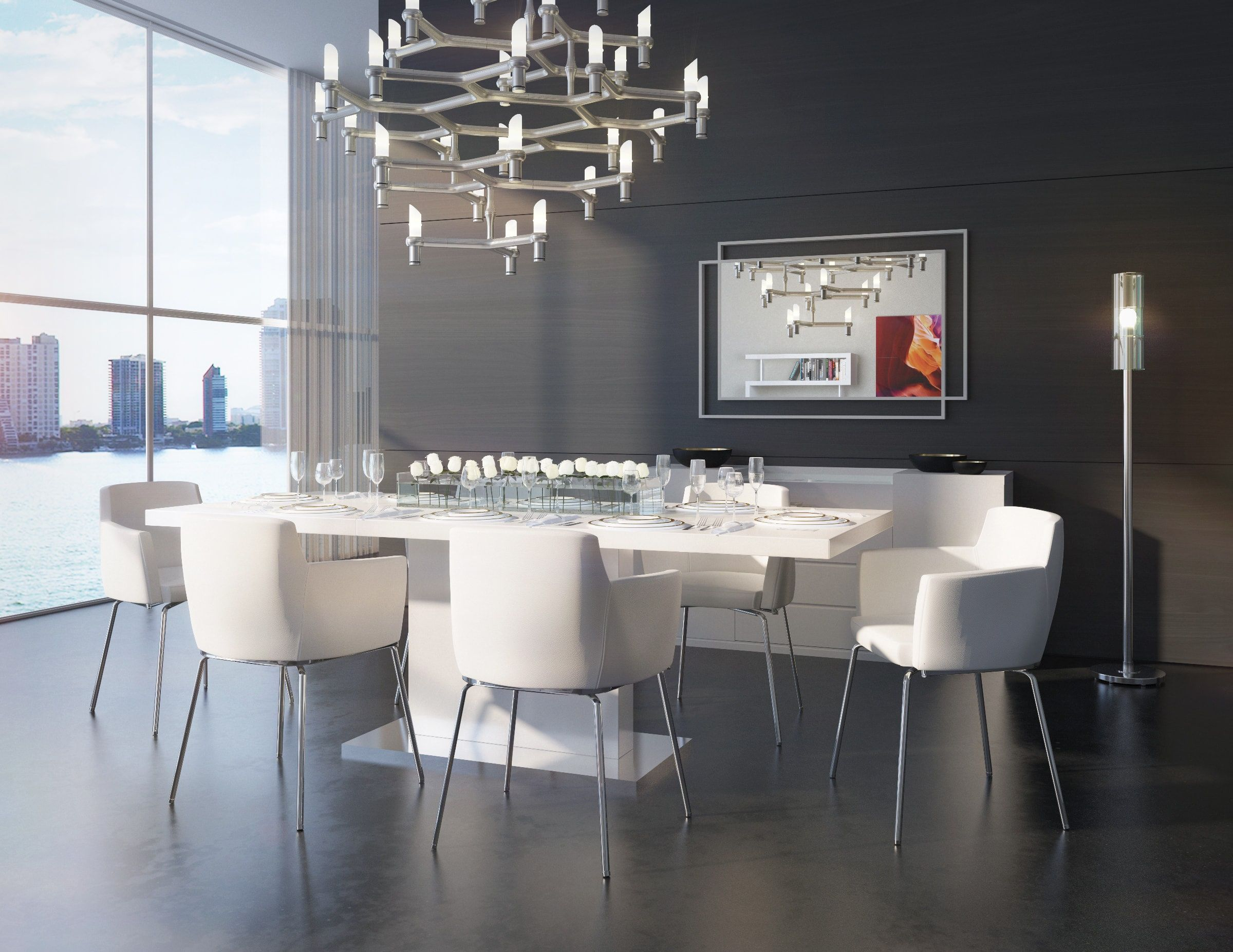 Palerma Extendable Modern Dining Table White | Montrose Place Dining ...