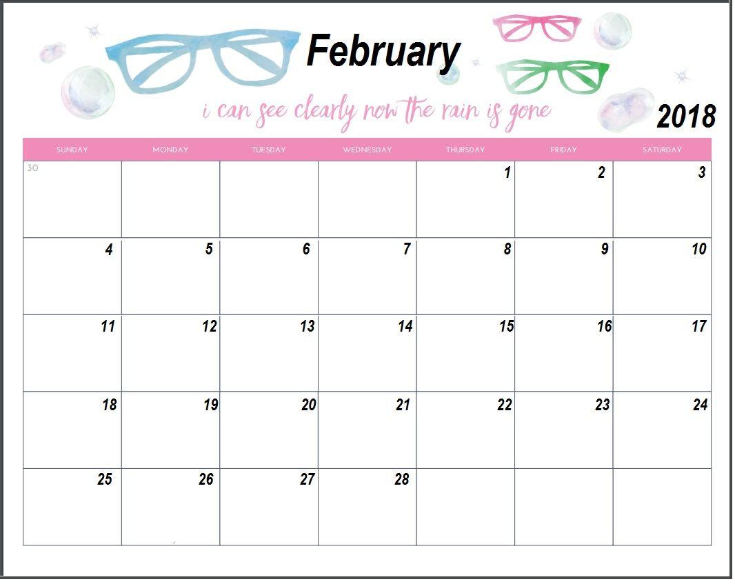 February  Custom Calendar  Calendar    Free