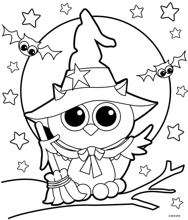 20 Free Printable Halloween Coloring Pages For Adults Kids There S Som Owl Coloring Pages Free Halloween Coloring Pages Halloween Coloring Pages Printable