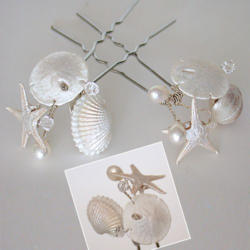 The Little Mermaid Beach Wedding - Hair Jewlery