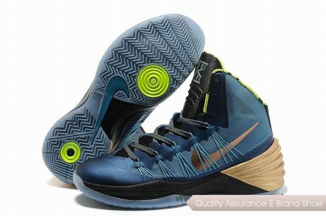 Nike Hyperdunk 2013 XDR Blue Black Gold Basketball Shoes.Hot Sold nba  basketball shoes sale