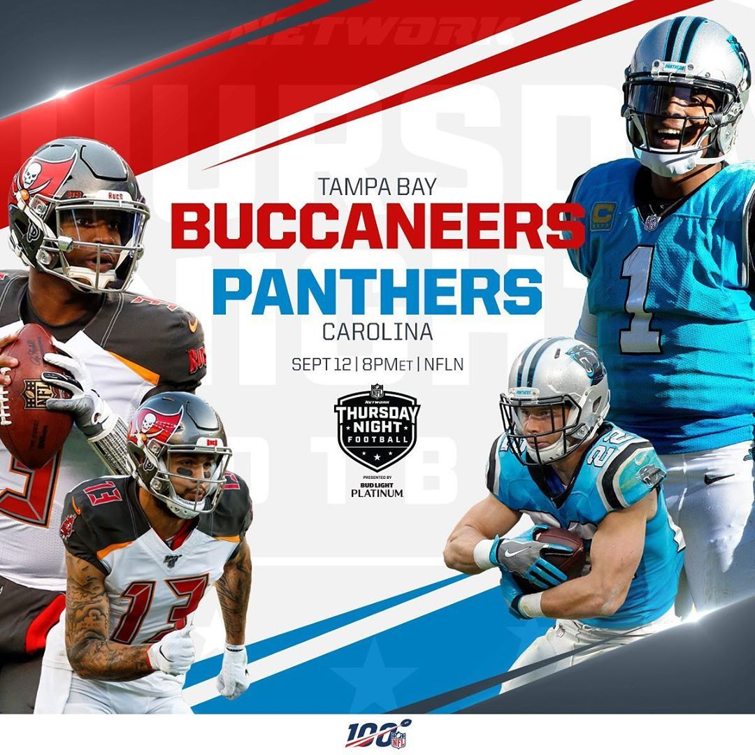 Nfl The Nfc South Is Taking Over Thursday Night Football For Week 2 Thursday Night Football Nfc South Carolina Panthers