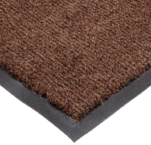 PET MAT Dog Food Water Bowl 26x17 Doormat Tan Black FLOOR RUG Paw Prints Bone