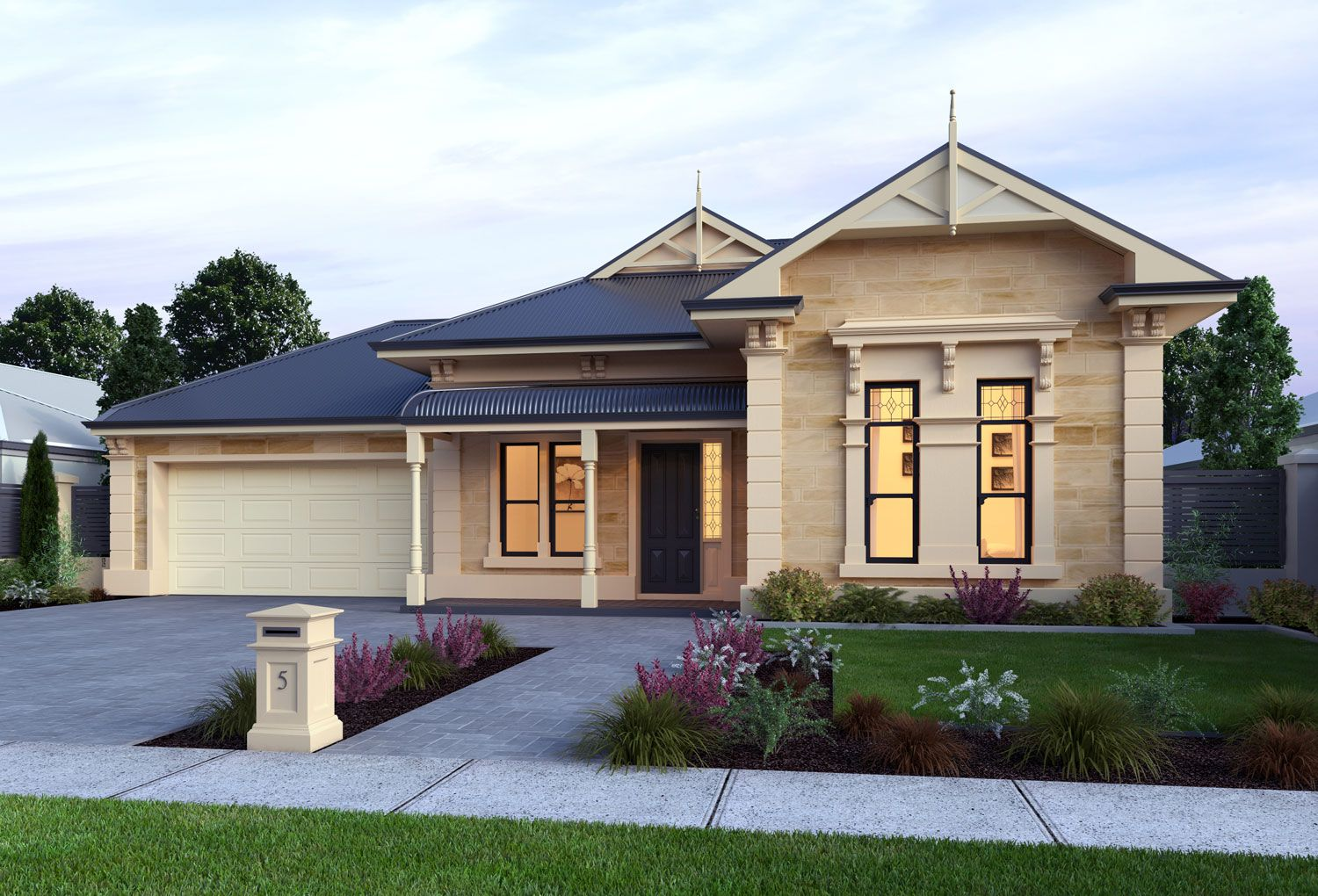 Sandstone House Google Search Facade House Colonial House Exteriors Craftsman House Plans
