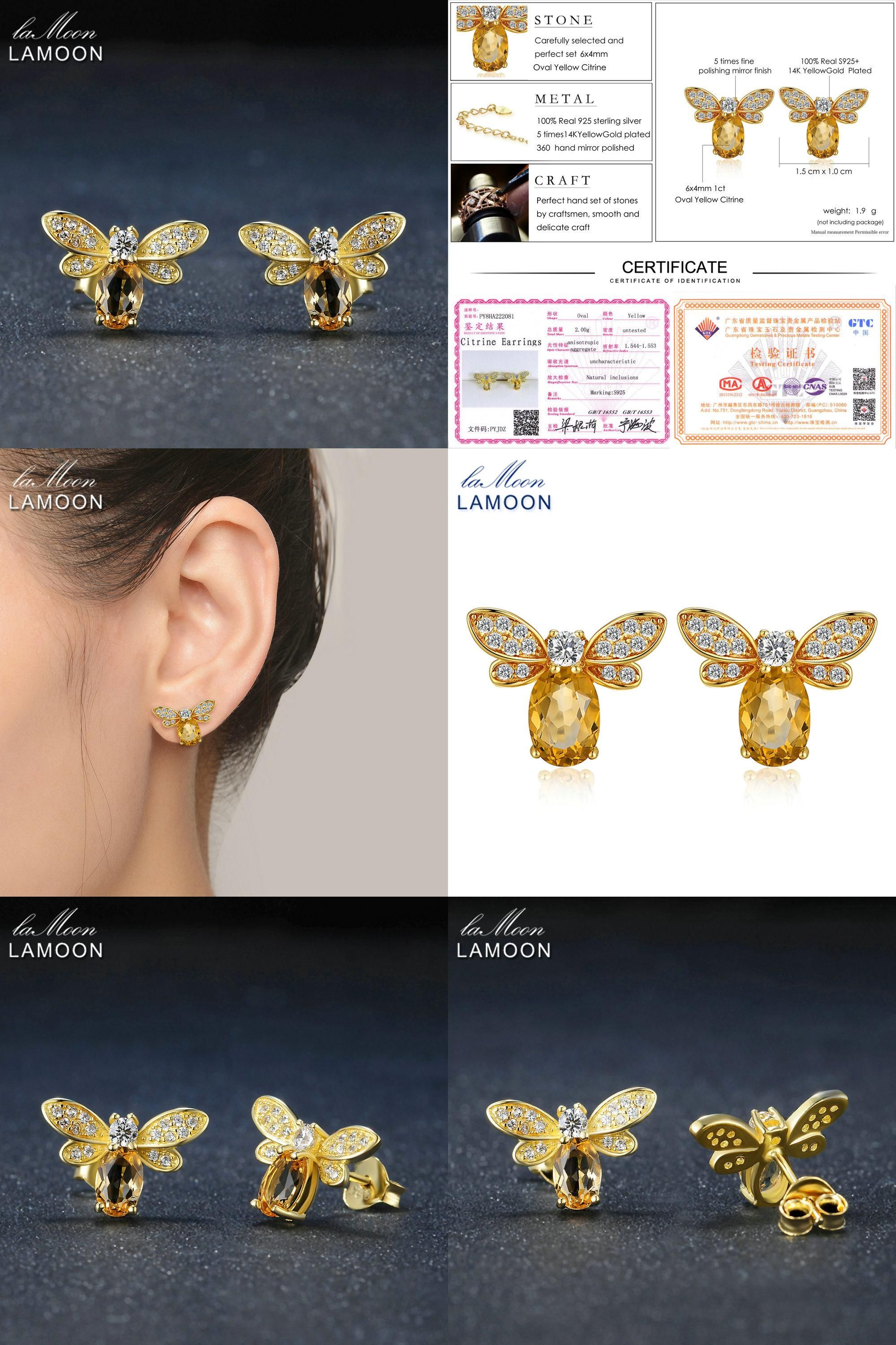 sapphire earring products green yellow mini myel gold design montana with stud bee in single retouch