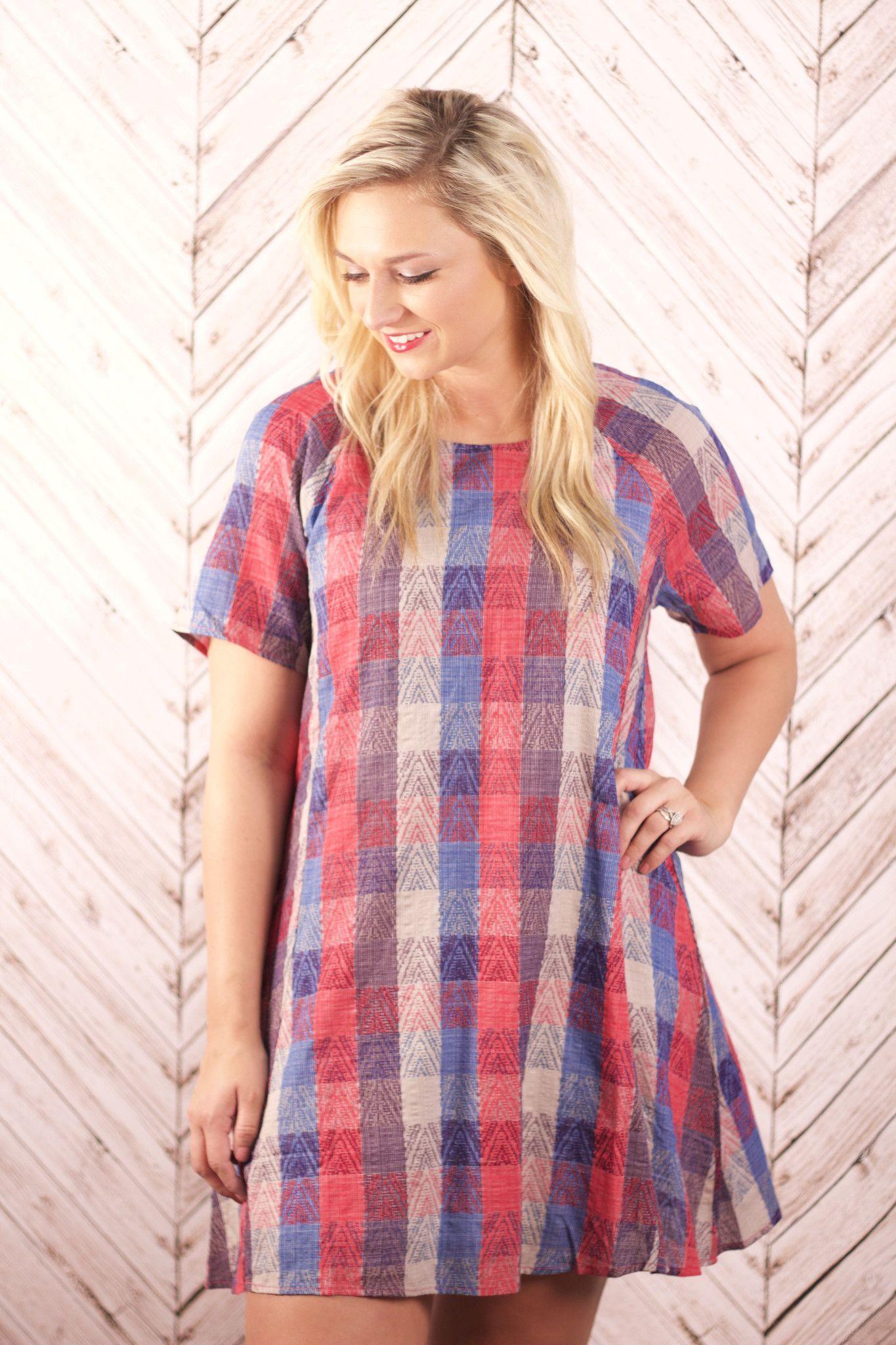 Ophelia Plaid Dress | Fun Fashions | Springdale, AR