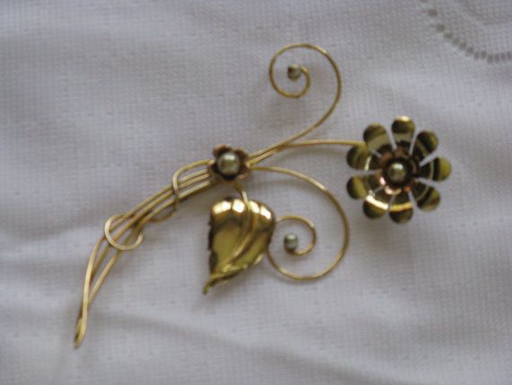 HARRY ISKIN Large Floral Brooch/Pin with by delightfullyvintage, $49.00