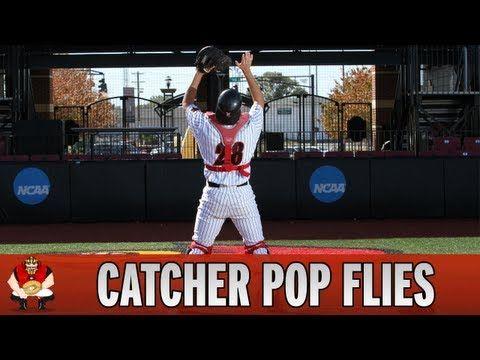 Catching 101 Baseball Catchers Catching Pop Flies Fly Balls Baseball Catcher Baseball Scores Baseball Workouts
