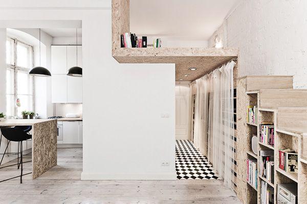 Ft apartment with a semi mezzanine architectuur
