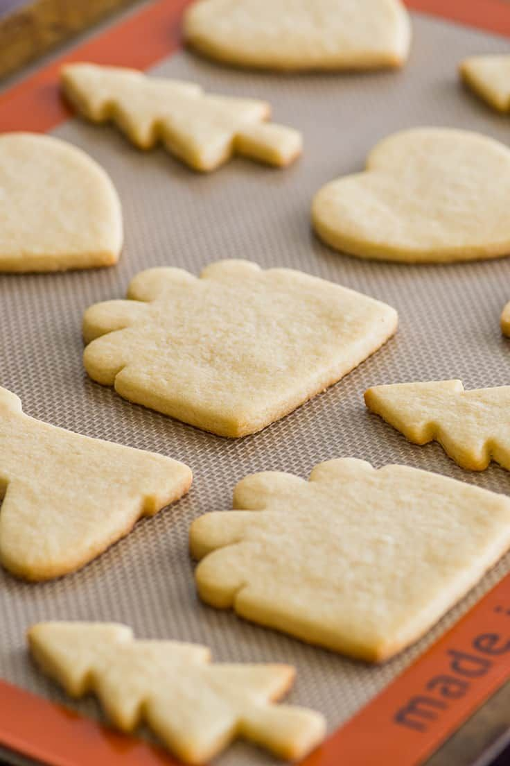 Cut-out Sugar Cookies are easy to make, with a dough that is great to work with.   #cookies   #sugarcookies   #ChristmasCookies  