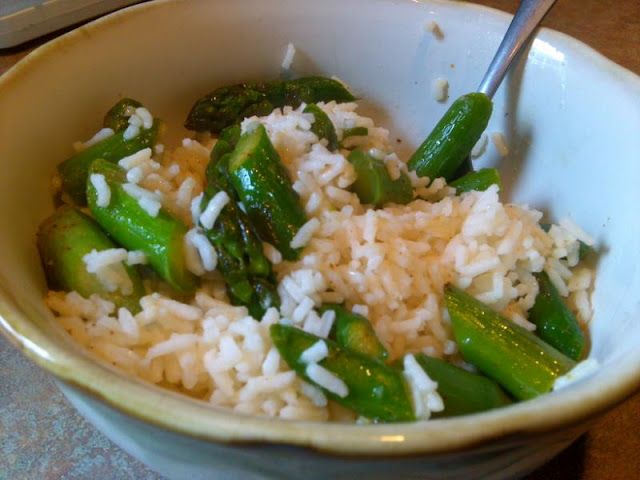 Chicken Rice and Asparagus