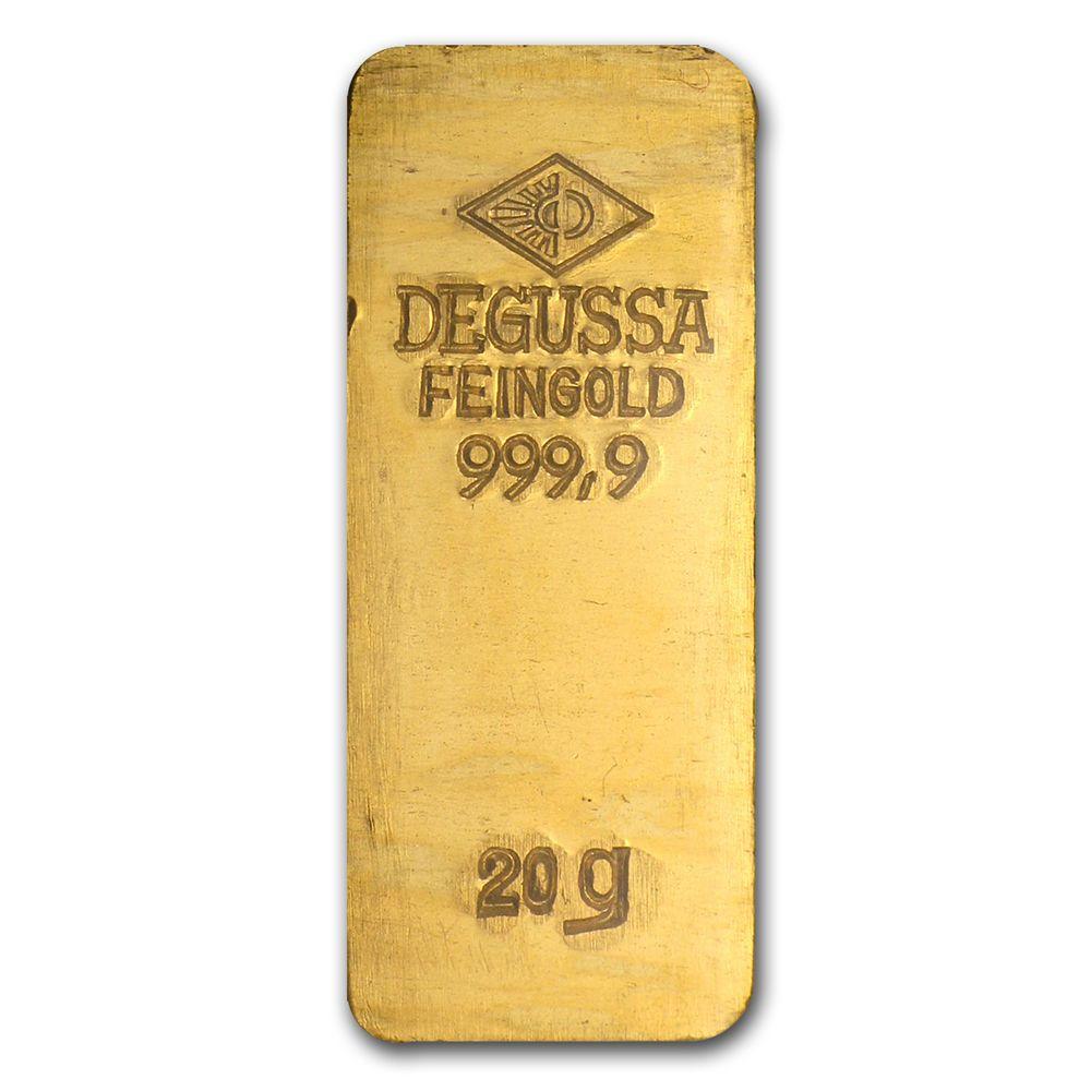 20 Gram Gold Bar Degussa Stamped Sku 46544 Gold Bullion Bars Gold Bullion Gold Bars For Sale