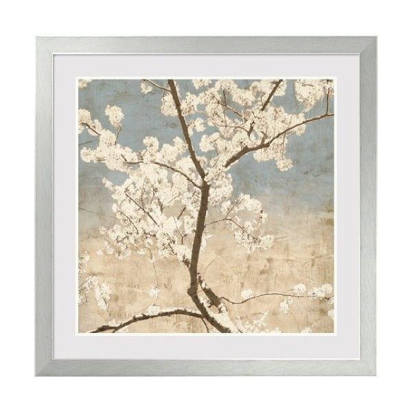 Cherry Blossoms I Framed Art Print by John Seba, 38.60 in. x 38.47 in. ($400) ❤ liked on Polyvore