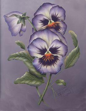 Pansies Flower Painting Pansies Flowers Flower Art