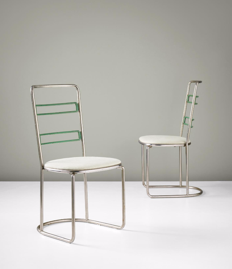 axel einar hjorth enameled and metal chairs for nordiska