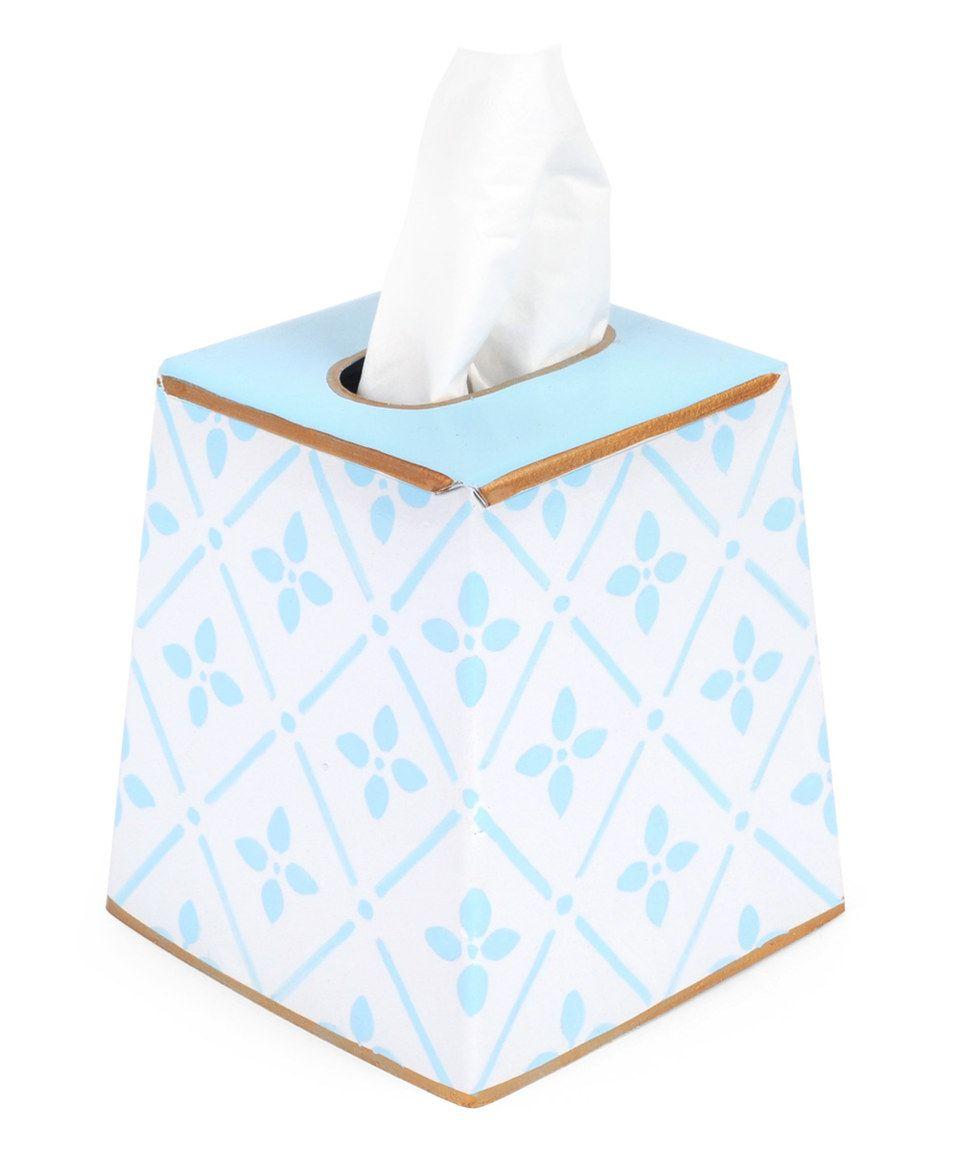 Blue flora tissue box cover tissue box covers tissue