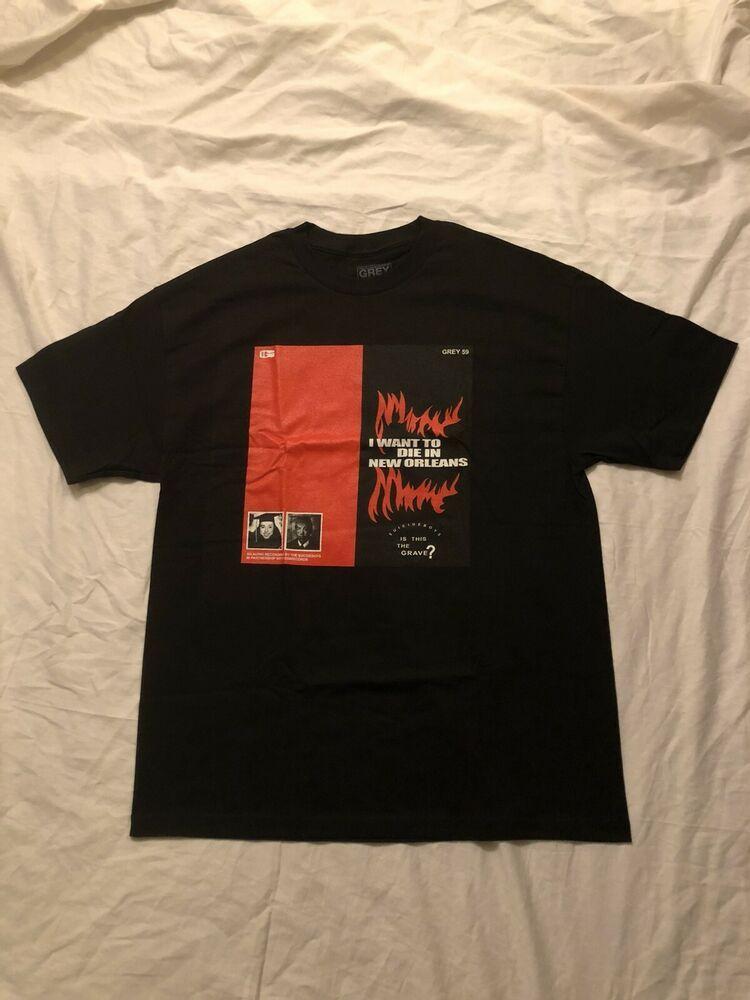Rap-A-Lot Records Red Logo T Shirt Hip Hop Vintage Rap merch Geto Boys New Black