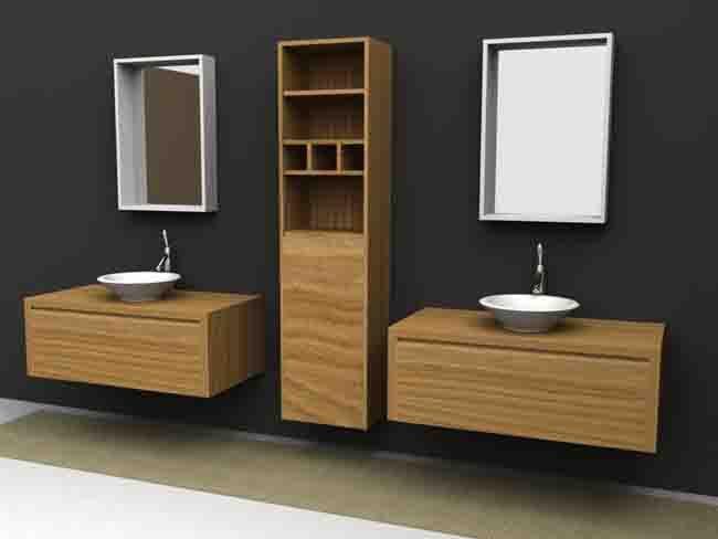 Lavabos modernos imagen muebles de ba o en granada con for Muebles de bano de diseno modernos