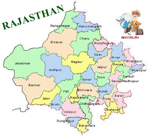 Rajasthan Political Map Rajasthan Map with Districts | States in 2019 | India map, Amazing