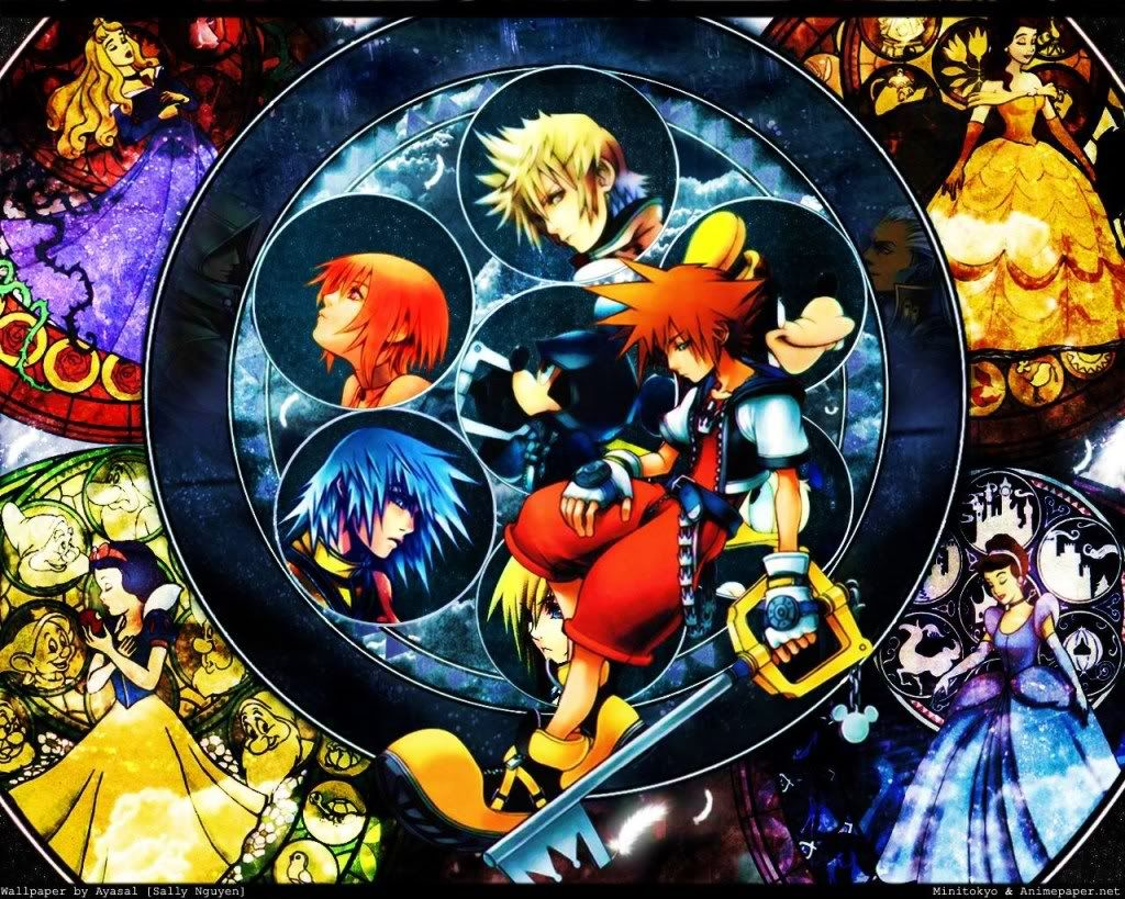 Kingdom Hearts II Stained Glass Circles