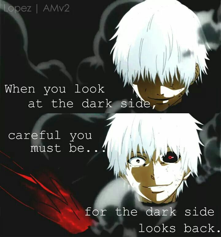 """Anime Manga quote from Tokyo ghoul"" it is Tokyo ghoul but the quote is from STAR WARS"