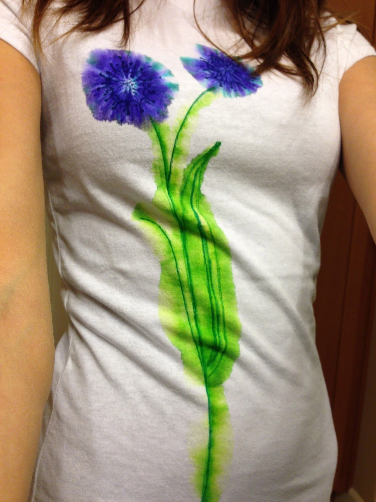 The Laurel Crowned Diy Watercolor T Shirt Using Sharpies T