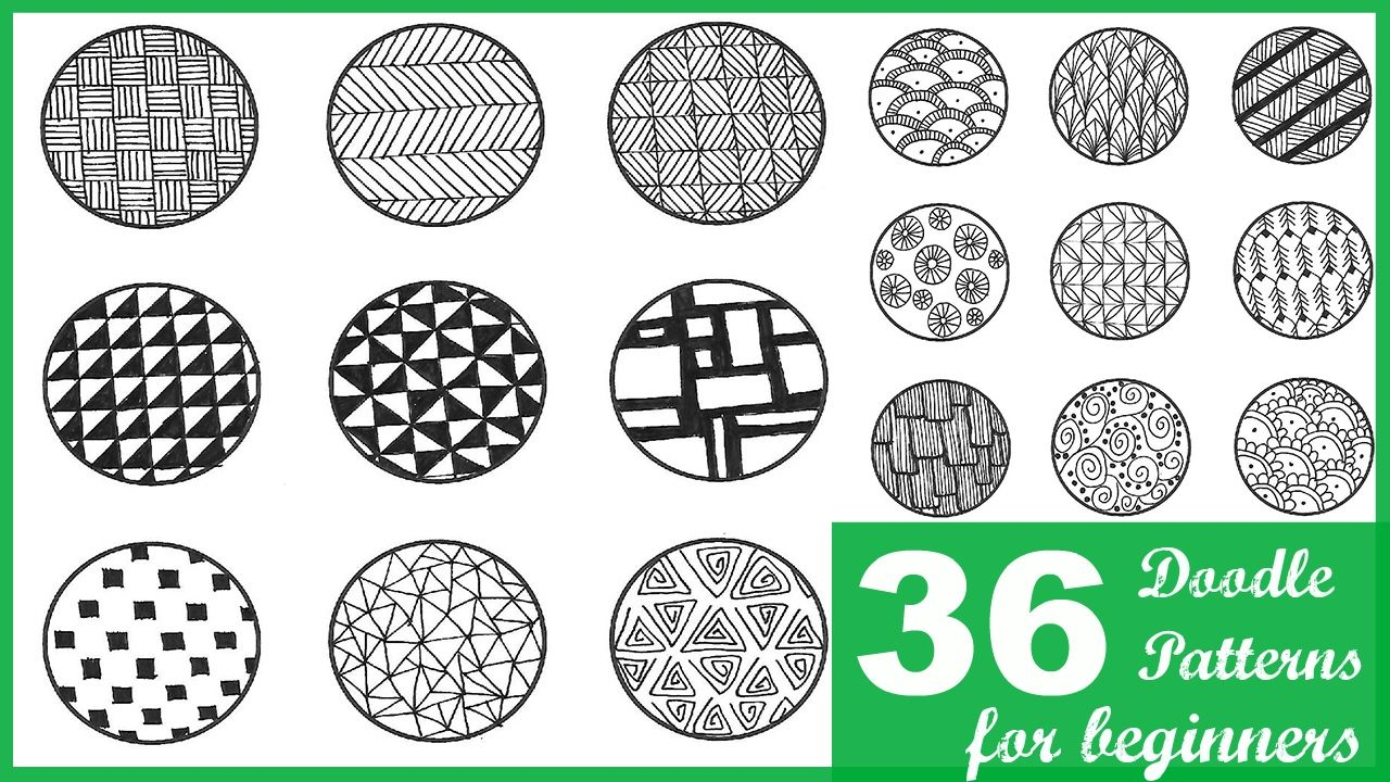 36 Easy Doodle Patterns For Beginners Doodle Patterns Simple
