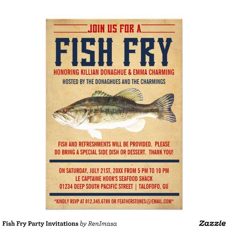 Fish Fry Invitation Printable Party Invitation Fish Fry Invite