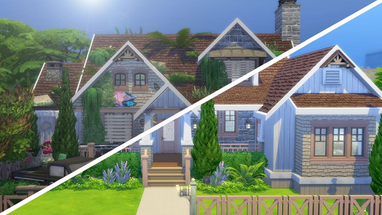 Condemned Craftsman The Sims 4 Fixer Upper Home Renovation Fixer Upper Craftsman House Renovations