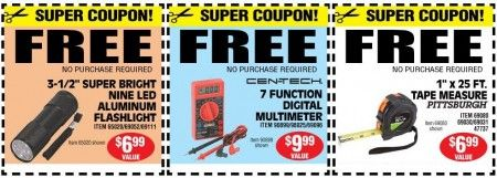 photograph regarding Mcalister's Coupons Printable titled Free of charge Instruments at Harbor Freight Resources Total Sizing Freebies
