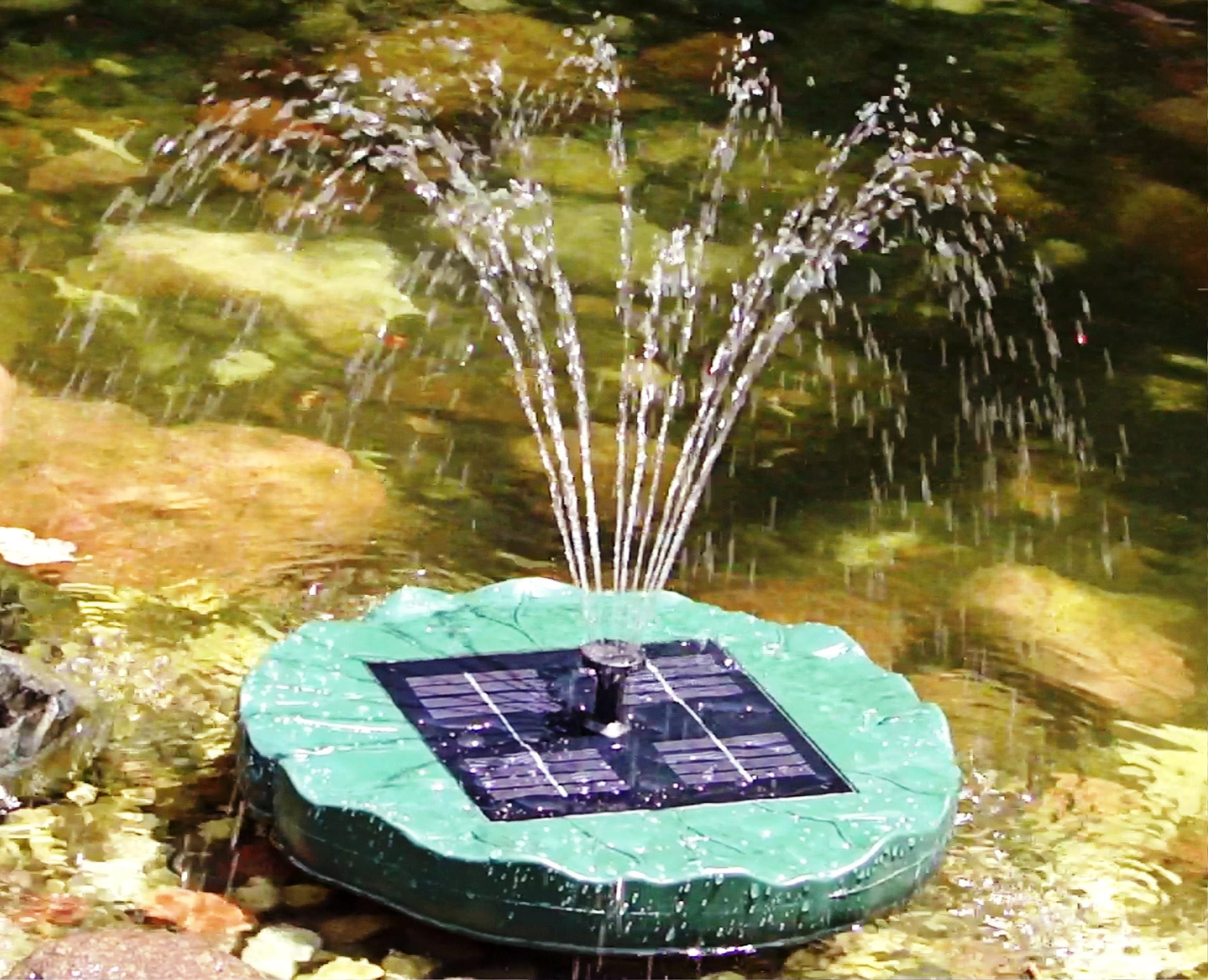 Solar Powered Pond Fountain | Outdoor Fountains | Pinterest ...