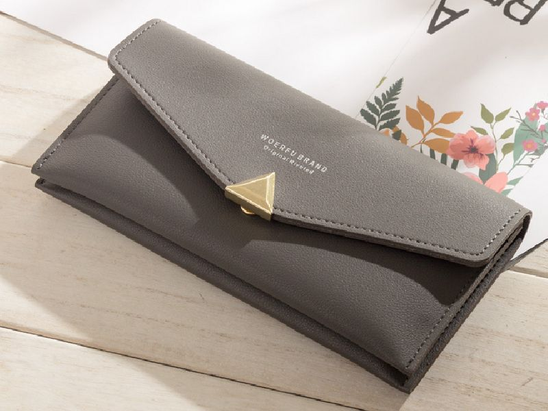 Elegant Lady Women pu long coin phone purse