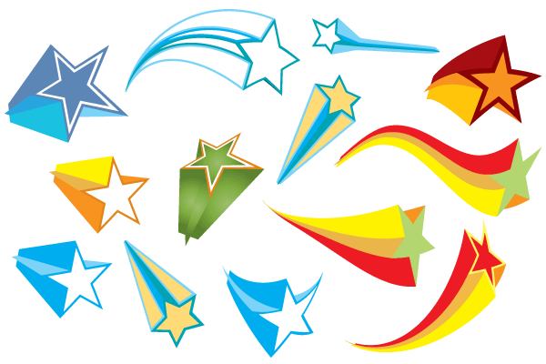 Free Colorful 3d Stars Vector Elements Vector Free 3d Star Planet Vector