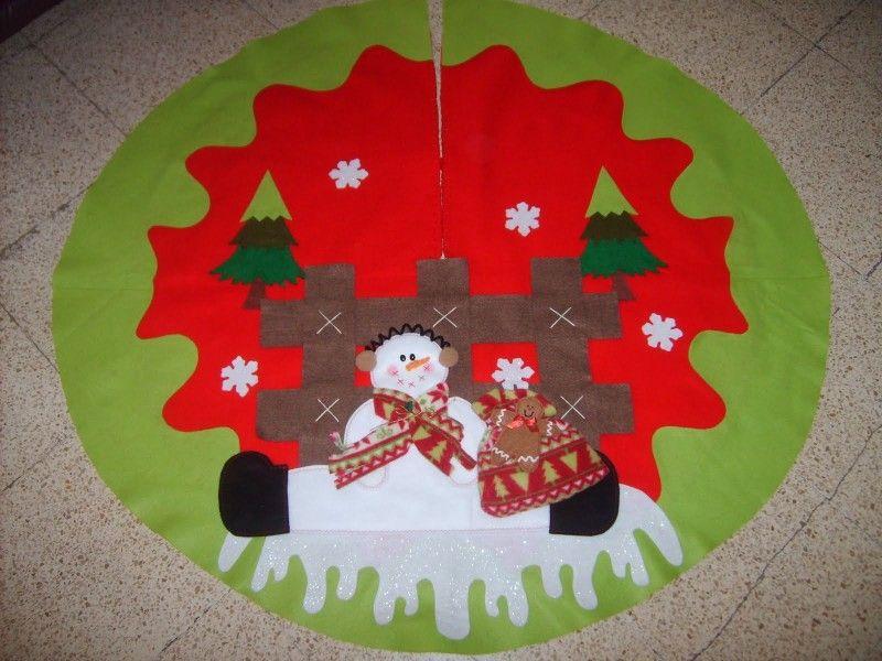 Pie de arbol de navidad christmas pinterest navidad - Como hacer motivos navidenos ...